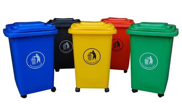 Contenedor de basura 50 litros con rueda saveline - Contenedores de basura para reciclaje ...