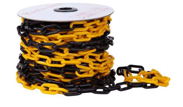 cadena plastica negro amarillo