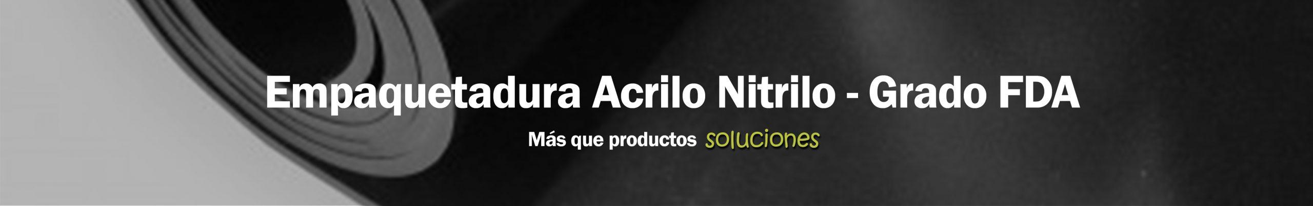 Empaquetadura Acrilo Nitrilo-Grado FDA